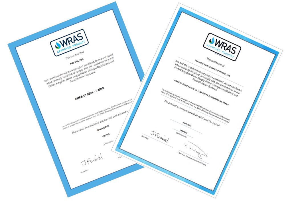 WRAS approved product certificate
