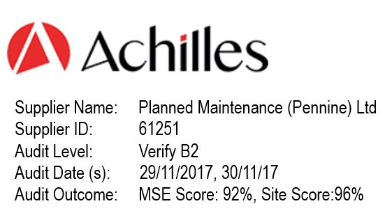 Achilles Logo and Planned Maintenance Penine audit results