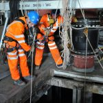 PMP Utilities, specialists in confined space and rope access regulations, Accessing the inlet well at Hull