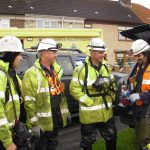 PMP Utilities, specialists in confined space and rope access regulations, at the Huyton mains burst