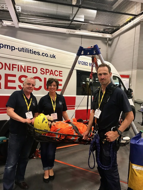 PMP Utilities confined space rescue demonstration