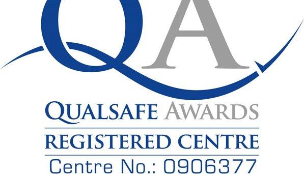 QUALSAFE AWARDS Logo and registered centre number