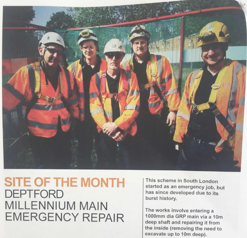PMP Utilities Site of the month image - Deptford team