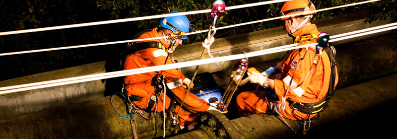 Rope access on piping by PMP utilities